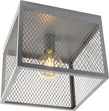 Industrielle Deckenleuchte Antik Silber - Cage