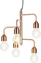 Industrielle Pendelleuchte Kupfer 5 Lampen - Darren