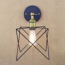 Industrielle Retro Antik Metall Stern Käfig Bett Schlafzimmer Wandleuchten Wandleuchte Lich