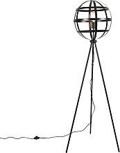 Industrielle Stehlampe schwarz - Boula
