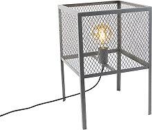 Industrielle Tischlampe Antik Silber - Cage Robusto