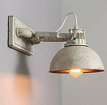 Industrielle Vintage Wandlampe Metall Verstellbare