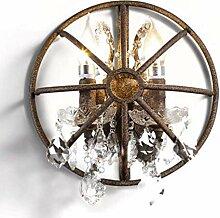 Industrielle Vintage Wandlampe Shabby Crystal