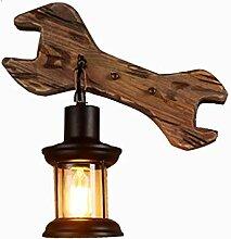 Industrielle Vintage Wandlampen Massivholz Café