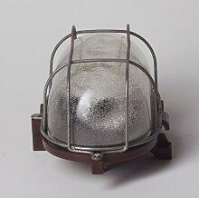 Industrielle Wandlampe aus Bakelit & Glas mit
