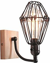 Industrielle Wandlampe, E27 Eisen Loft Rustikale