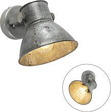 Industrielle Wandlampe grau - Samia