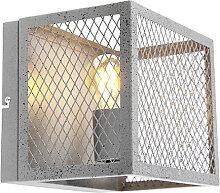 Industrielle Wandleuchte Antik Silber - Cage