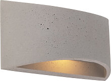 Industrielle Wandleuchte grauer Beton - Creil