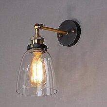 Industrielle Wandleuchte Retro Glas Wandlampe,