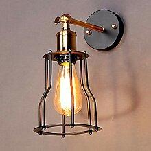 Industrielle Wind-Korridor-Wandlampe, Kreative