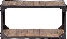 Industrieller Couchtisch ATELIER Massivholz und