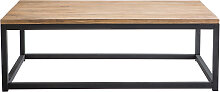 Industrieller Couchtisch FACTORY Holz und Metall