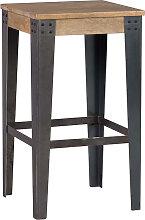 Industrieller Design-Hocker Metall und 65 cm