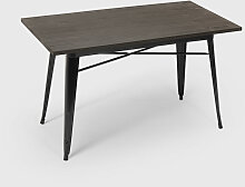 Industrieller Esstisch 120x60 Metall Holz design