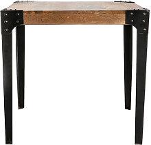 Industrieller Esstisch Stahl und Holz L80 MADISON