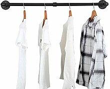 Industrieller Kleiderständer zur Wandmontage,