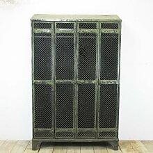 Industrieller Vintage Spind mit Vier Türen von