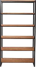 Industrielles Bücherregal Holz und Metall ARISTOTE