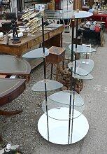 Industrielles drehbares Vintage Glas Regal