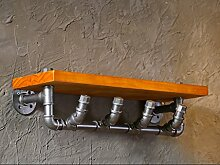 Industrielles Wandregal LOFT Retro Wand hängende industrielle Wind Regal Wand hängende Wand Hintergrund Wand Anhänger Retro industrielle Wind Stil Wasser Rohr Regal Wandregale ( Farbe : 3# )