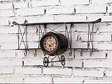 Industrielles Wandregal Retro Flugzeug-Taktgeber-Wand-Hintergrund-Wandanhänger Retro industrielles Wind-Art-Regal Wandregale ( Farbe : B )