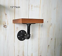 Industrielles Wandregal Retro Regal Plumbing Rack Küche Bracket Iron Pipe Plank LOFT Wanddekoration Wandregale ( größe : 15*15cm )