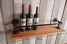 Industrielles Wandregal Retro Regal Plumbing Rack Küche Bracket Iron Pipe Plank LOFT Wanddekoration Wandregale ( größe : 60*15cm )