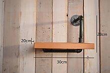 Industrielles Wandregal Retro Regal Plumbing Rack Küche Bracket Iron Pipe Plank LOFT Wanddekoration Wandregale ( größe : 30*28cm )