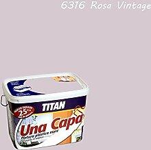 Industrien Titan. S.L 69631605Wandfarbe matt 5lt Pink Vint int. mono eine Schicht Titan