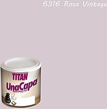Industrien Titan. S.L 69631634Wandfarbe matt 750ml pink Vint int. mono eine Schicht Titan