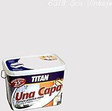 Industrien Titan. S.L 69631805Wandfarbe matt 5lt grau Vint int. mono eine Schicht Titan
