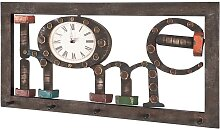 Industry Garderobe in Braun Uhr