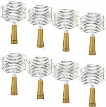 iNeego LED Flaschen Licht 8 Stück Weinflasche