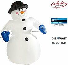 infactory Aufblasbarer Schneemann: