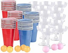 infactory Beer Pong Becher: Trinkspiel-Set für