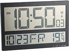 infactory Jumbo Uhr: Digitale Wanduhr mit Jumbo-LCD-Display, Innentemperatur-Anzeige (Große LCD Wanduhr)