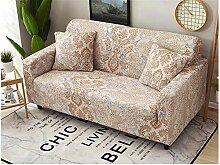 INFANDW Stretch Sofabezug 2 Sitzer gelb & barock