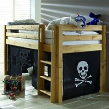 Infanskids Halbhohes Bett mit gerader Leiter und