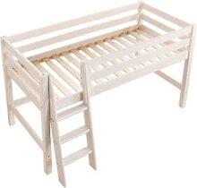 Infanskids Halbhohes Bett mit schräger Leiter und