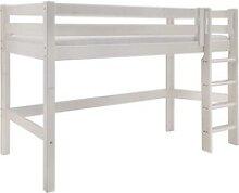 Infanskids Mittelhohes Bett mit gerader Leiter und