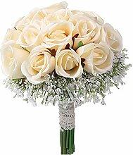 INFILM Künstliche Brautstrauß für Hochzeit,