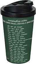 infinite by GEDA LABELS 12134 Coffee to go Becher PP, doppelwandig, Englisch