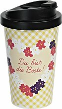 infinite by GEDA LABELS 12578 Coffee to go Becher PP, Doppelwandig, mama Blumenmotiv