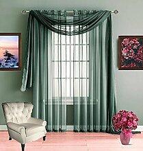 Infinite Home Beauty Durchsichtiger Fensterschal