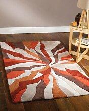 Infinite Splinter Orange Funky Design Rug 80X150