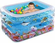 Inflatable Bathtub HWF Aufblasbare Badewanne Schwimmbad Isolierung Baby Kinderbecken Planschbecken Schwimmbecken Eimer Badewanne (Farbe : L, größe : A package)