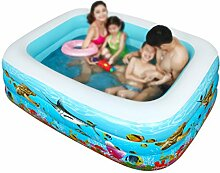 Inflatable Bathtub HWF Schwimmbecken Inflated Thicker Family Pool Kinder Schwimmbad Ocean Ball Pool Erwachsene (Farbe : 180*130*60cm)