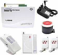 Infrarot drahtloser Fernsteuerungs Tür und Fenster Sensor Sicherheits Einbrecher Diebstahlsicheres GSM Warnungssystem , white