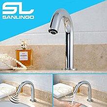 Infrarot IR Armatur Automatik Wasserhahn Waschbecken Chrom Kaltwasser